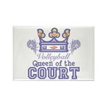 Queen Of The Court Volleyball Rectangle Magnet (10
