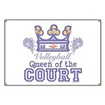 Queen Of The Court Volleyball Banner