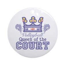 Queen Of The Court Volleyball Ornament (Round)
