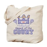 Queen Of The Court Volleyball Tote Bag