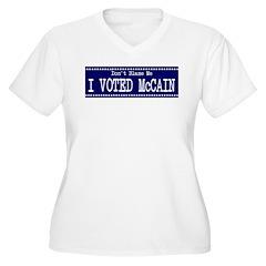 Don't Blame Me I Voted McCain Women's Plus Size V-