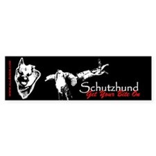 Schutzhund - Get your bite on - Bumper Bumper Sticker