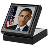 Obama Official Portrait Keepsake Box