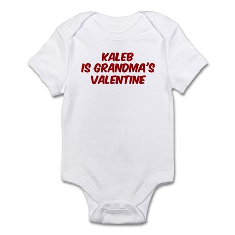 Kalebs is grandmas valentine Infant Bodysuit
