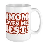 Mom Loves Me Best Large Mug