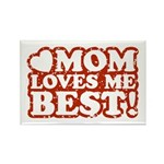 Mom Loves Me Best Rectangle Magnet