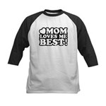 Mom Loves Me Best Kids Baseball Jersey