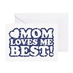 Mom Loves Me Best Greeting Cards (Pk of 10)