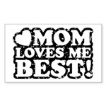Mom Loves Me Best Rectangle Sticker 10 pk)