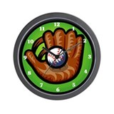 Baseball and Glove Wall Clock