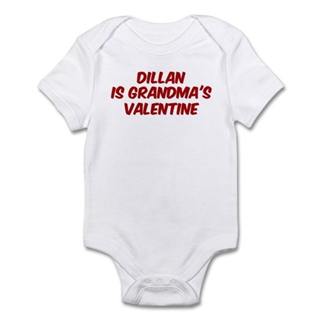Dillans is grandmas valentine Infant Bodysuit