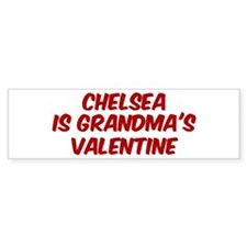 Chelseas is grandmas valentin Bumper Bumper Sticker