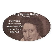Romantic Poet Percy Shelley Oval Decal