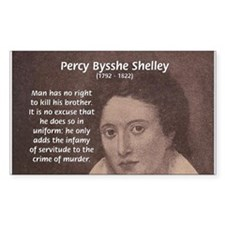 Writer Percy Bysshe Shelley Rectangle Decal
