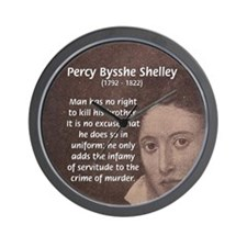 Writer Percy Bysshe Shelley Wall Clock