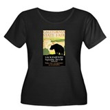 State Fair Women's Plus Size Scoop Neck Dark T-Shi