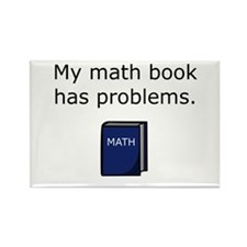 Math Book Rectangle Magnet