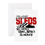 So Little Time, Space & Money Greeting Cards (Pk o