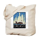 Chicago Retro Tote Bag