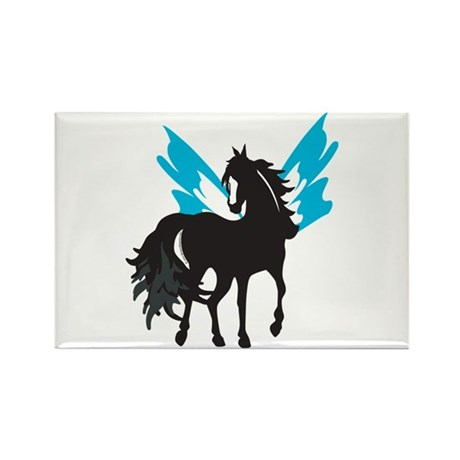 Winged Steed Rectangle Magnet