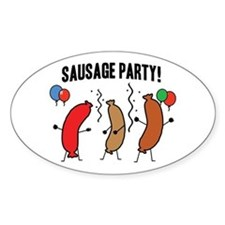 Sausage Party Oval Decal