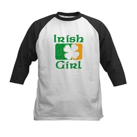 Irish Girl Kids Baseball Jersey