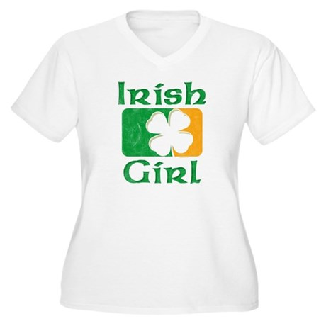 Irish Girl Women's Plus Size V-Neck T-Shirt