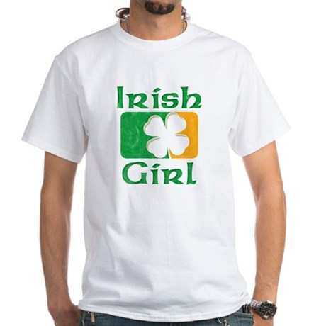 Irish Girl White T-Shirt