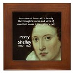 Romantic Writer: Percy Shelley Framed Tile