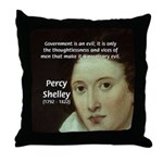 Romantic Writer: Percy Shelley Throw Pillow