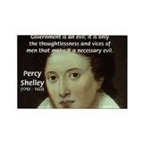 Romantic Writer: Percy Shelley Rectangle Magnet