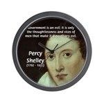 Romantic Writer: Percy Shelley Wall Clock