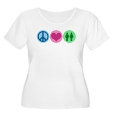 Peace Love Gay T-Shirt