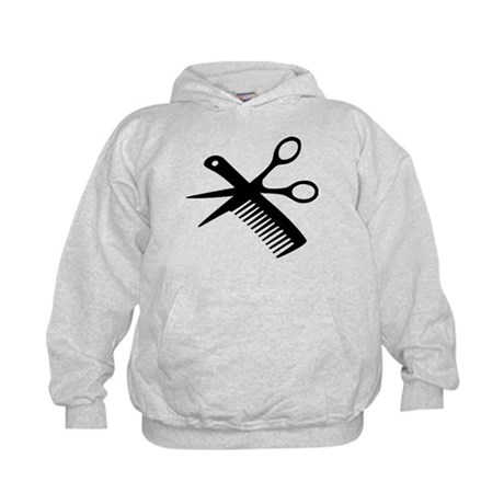 barber scissors hairdresser Kids Hoodie