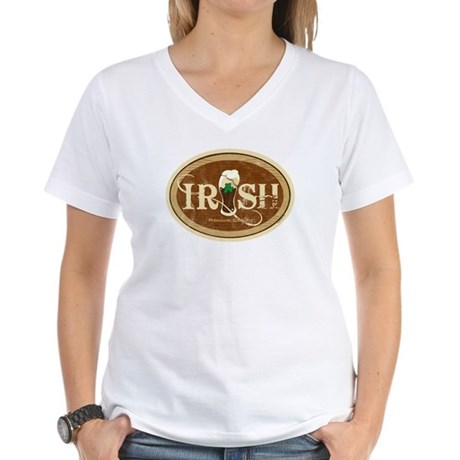 Stout Irish Beer Women's V-Neck T-Shirt