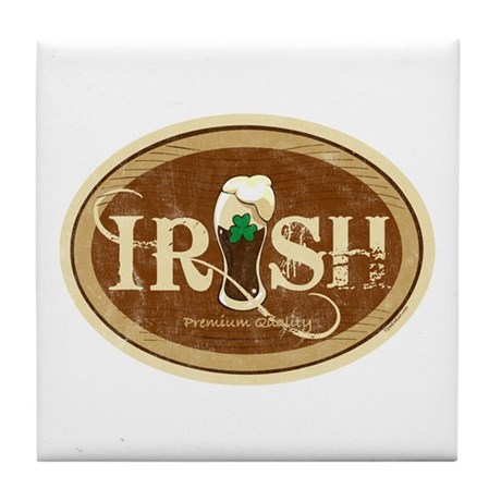 Stout Irish Beer Tile Coaster