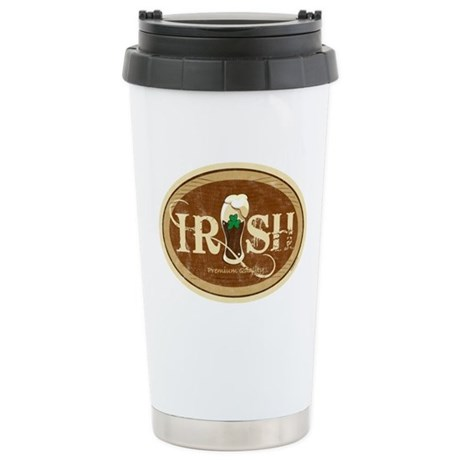 Stout Irish Beer Ceramic Travel Mug