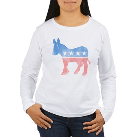 Democratic Donkey Womens Long Sleeve T-Shirt
