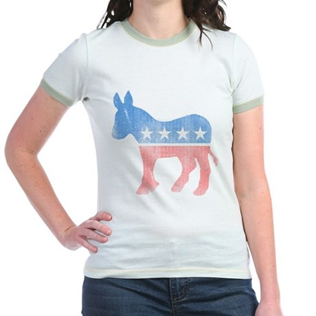 Democratic Donkey Jr Ringer T-Shirt