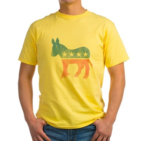 Democratic Donkey Yellow T-Shirt