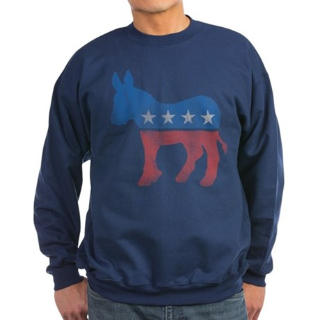 Democratic Donkey Dark Sweatshirt
