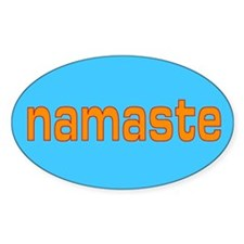 namaste Oval Decal