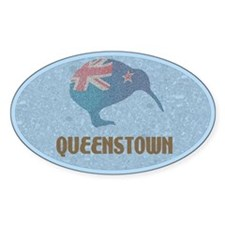 Queenstown New Zealand Oval Stickers