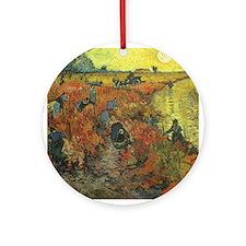 Van Gogh The Red Vineyard Ornament (Round)