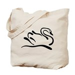 Stylized Swan Tote Bag