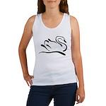 Stylized Swan Women's Tank Top