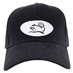 Stylized Swan Black Cap