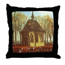 Van Gogh Chapel at Nuenen Throw Pillow