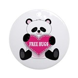 Free Hugs Panda Ornament (Round)