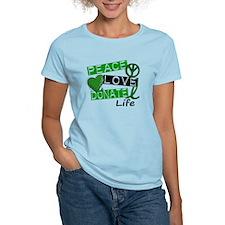 PEACE LOVE DONATE LIFE (L1) T-Shirt